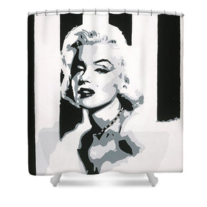 Black and White Marilyn - Shower Curtain