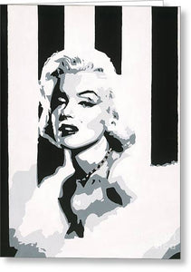Black and White Marilyn - Greeting Card