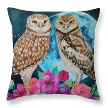 Load image into Gallery viewer, Blue Moon Blooming - Throw Pillow