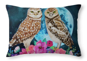 Blue Moon Blooming - Throw Pillow
