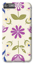 Load image into Gallery viewer, Folk Flower Pattern in Beige and Purple - Phone Case