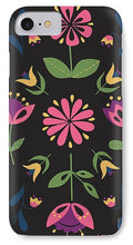 Load image into Gallery viewer, Folk Flower Pattern in Black and Pink - Phone Case