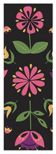 Load image into Gallery viewer, Folk Flower Pattern in Black and Pink - Yoga Mat