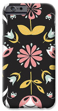 Load image into Gallery viewer, Folk Flower Pattern in Black and White - Phone Case