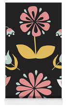Load image into Gallery viewer, Folk Flower Pattern in Black and White - Yoga Mat