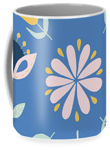 Load image into Gallery viewer, Folk Flower Pattern in Blue - Mug