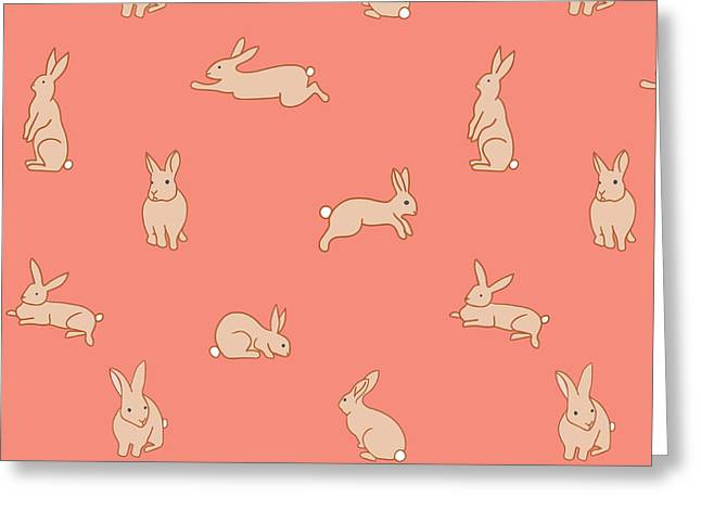 Funny Bunnies - Greeting Card