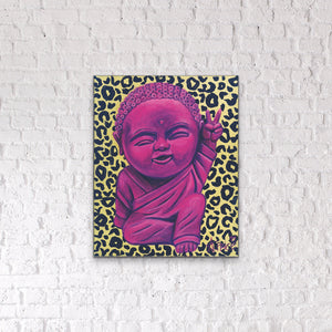 "Original ""Baby Buddha"" painting on canvas"