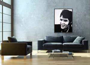 "fine art print of original acrylic painting ""Young Elvis"""