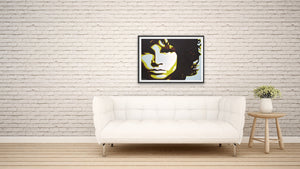 fine art giclee print of original painting of Jim Morrison