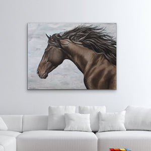 "Original Horse oil painting ""Chester"" canvas"