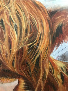 "Original Highland Cow ""Harry"" oil painting by ashley lane"