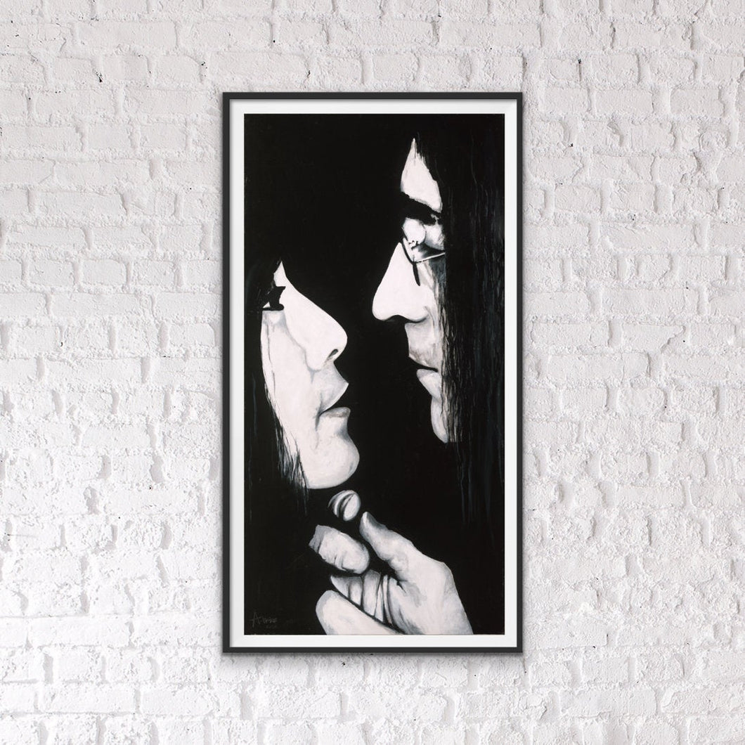 John Lennon and Yoko Ono - Giclee Fine Art Paper and Canvas  Print