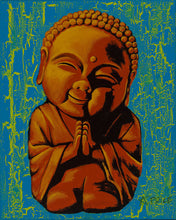 Load image into Gallery viewer, Baby Buddha original acrylic Painting