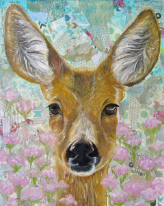 "Giclee fine art print of original deer oil painting ""Enchanted Meadow"""