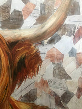 "Load image into Gallery viewer, Original Highland Cow ""Harry"" oil painting by ashley lane"