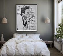 "Load image into Gallery viewer, giclee fine art print of original oil painting of Johnny Cash ""Love Letter"" to June"