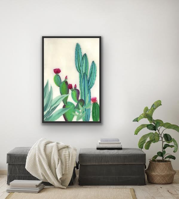 giclee fine art print of original resin art painting by ashley lane