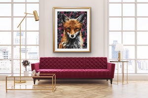 Giclee Fine Art Print of original oil painting Mrs. Fox