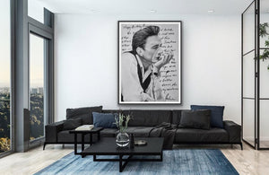 "giclee fine art print of original oil painting of Johnny Cash ""Love Letter"" to June"