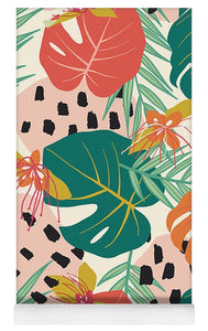 Jungle Floral Pattern  - Yoga Mat