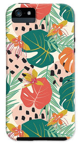 Jungle Floral Pattern  - Phone Case
