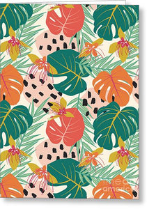 Jungle Floral Pattern  - Greeting Card