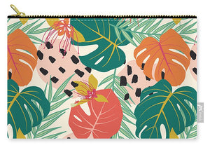 Jungle Floral Pattern  - Carry-All Pouch