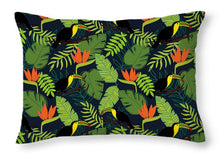 Load image into Gallery viewer, Toucan Jungle Pattern - Throw Pillow