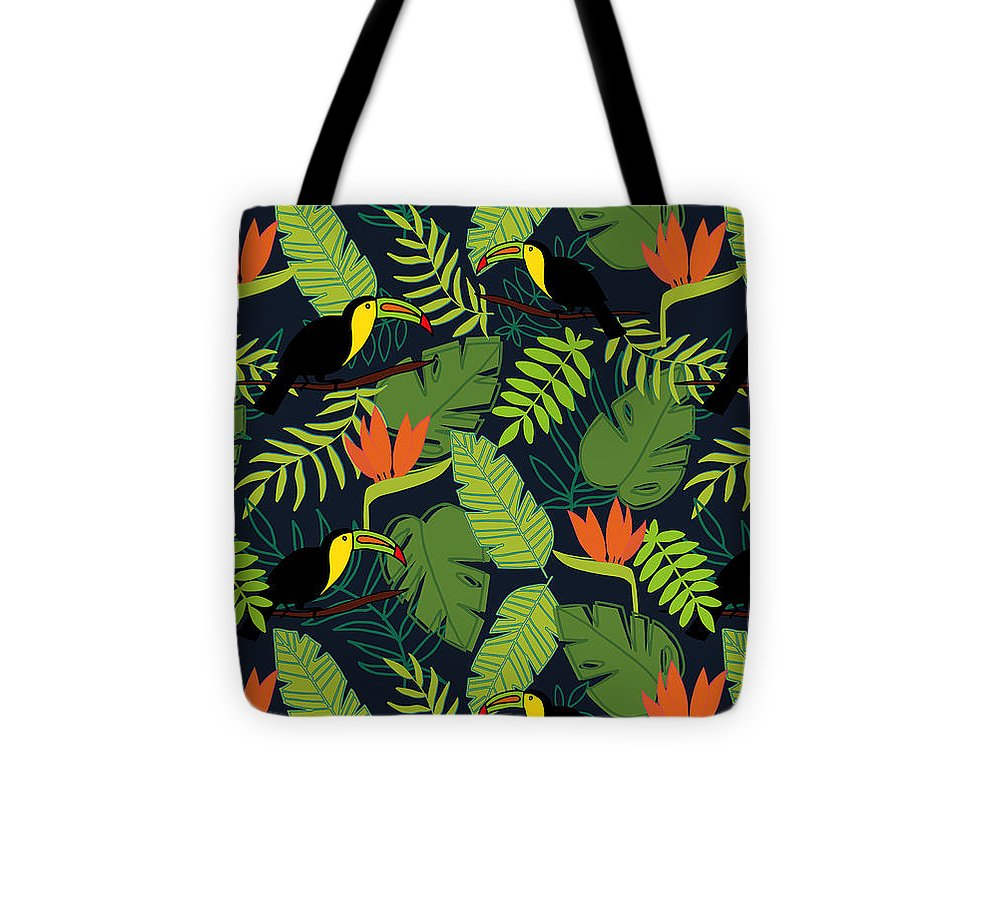 Toucan Jungle Pattern - Tote Bag