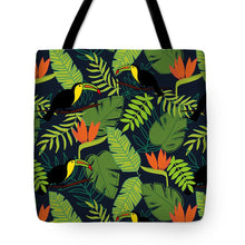 Load image into Gallery viewer, Toucan Jungle Pattern - Tote Bag