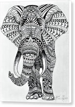 Load image into Gallery viewer, Tribal Elephant Mandala - Canvas Print