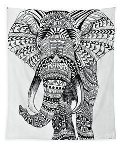 Tribal Elephant Mandala - Tapestry
