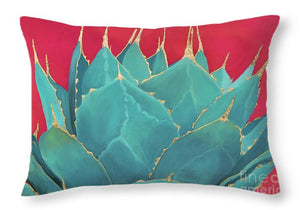 Turquoise Fire - Throw Pillow
