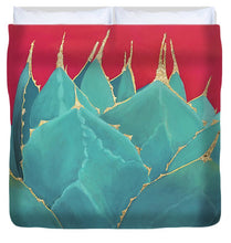Load image into Gallery viewer, Turquoise Fire - Duvet Cover