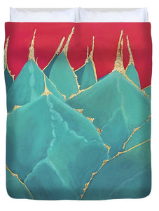 Turquoise Fire - Duvet Cover
