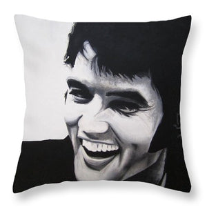 Young Elvis - Throw Pillow