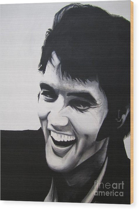 Young Elvis - Wood Print