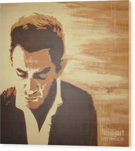 Young Johnny Cash - Wood Print