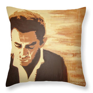Young Johnny Cash - Throw Pillow