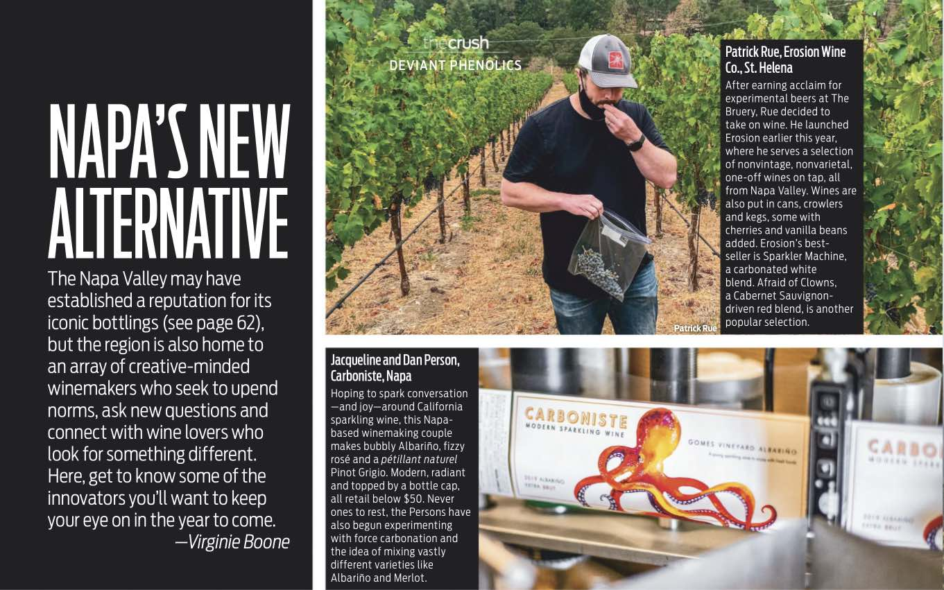 Wine Enthusiast Feature - Napa's New Alternative