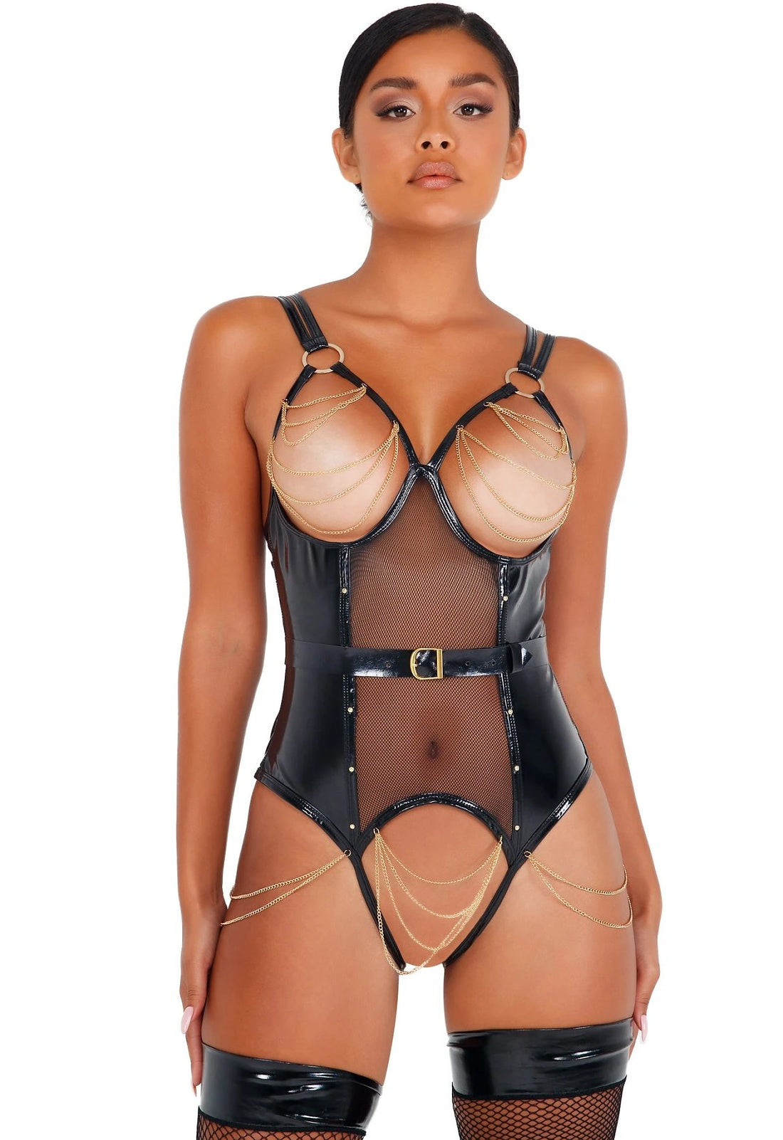 Latex domina bodysuit
