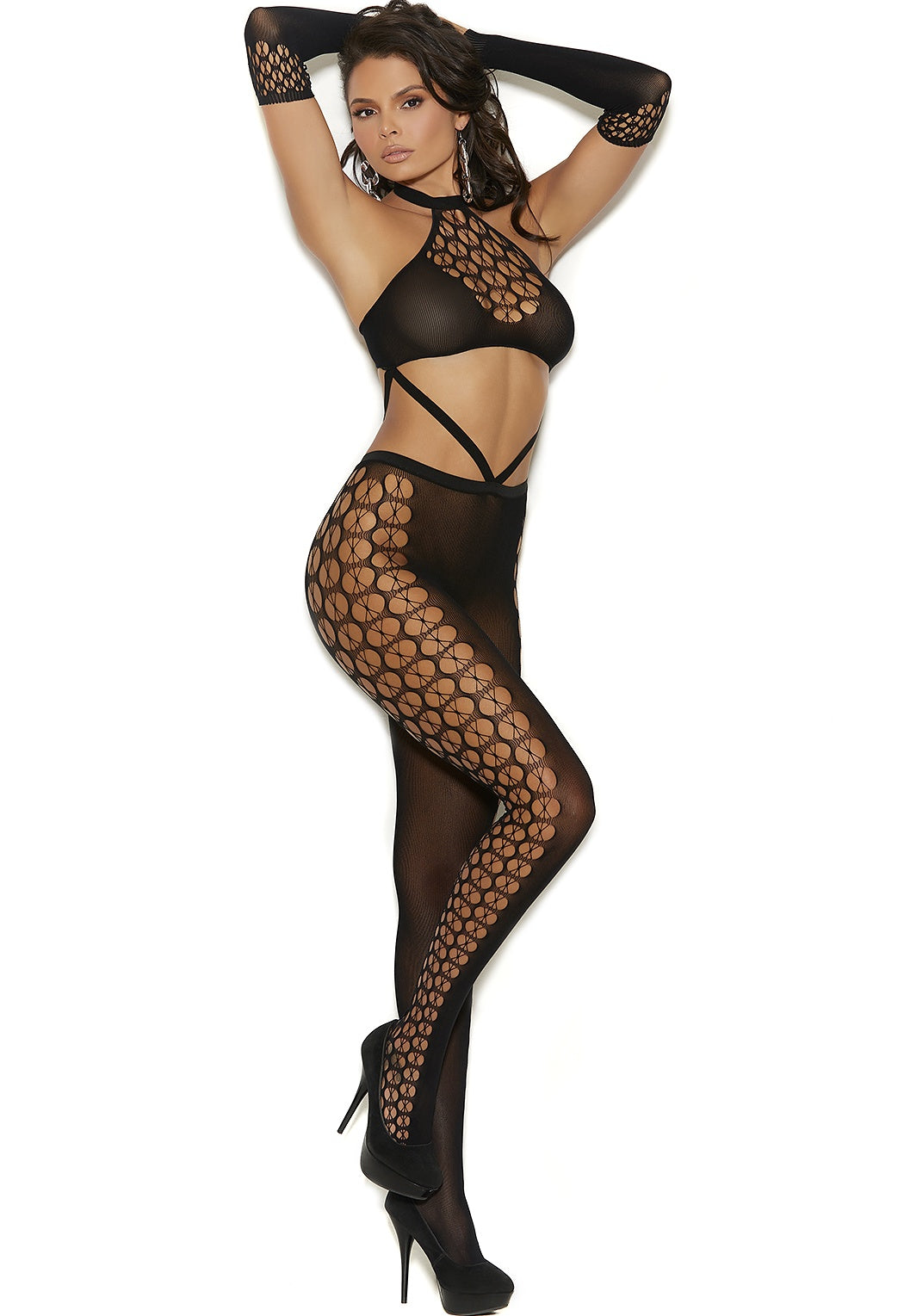 Black bodystocking set