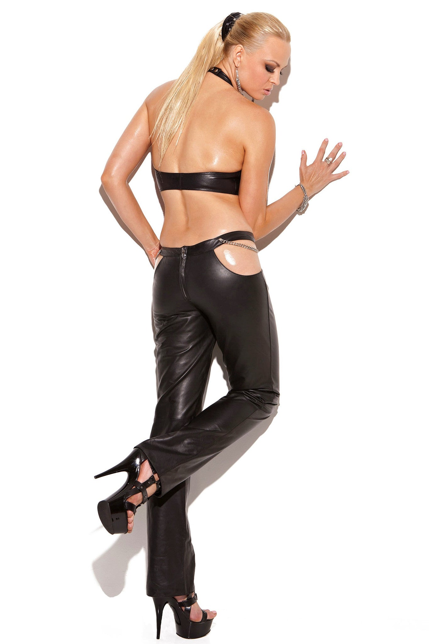 L4133 Leather top - Sexylingerieland  - 2