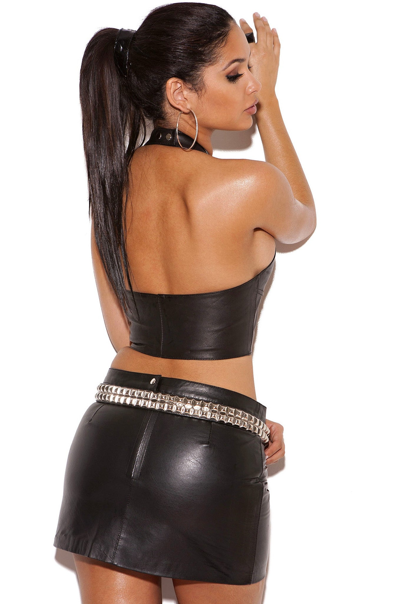 L4113 Leather top - Sexylingerieland  - 2