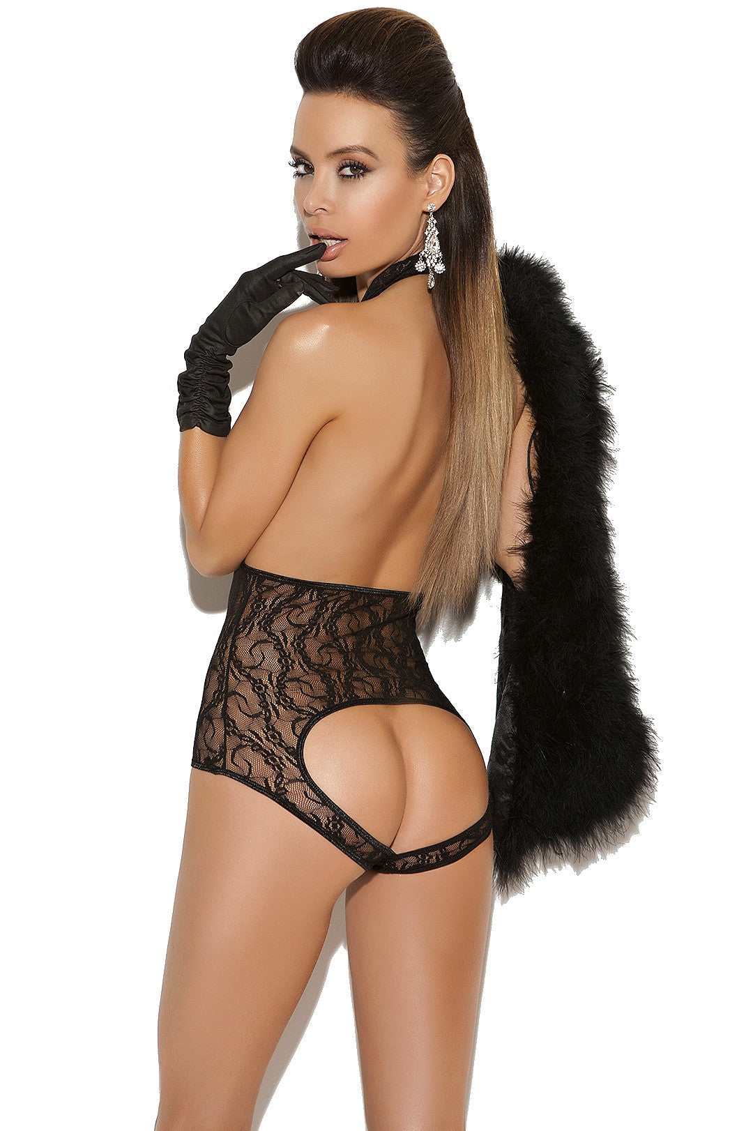 EM-8743 Teddy with open back - Sexylingerieland  - 2