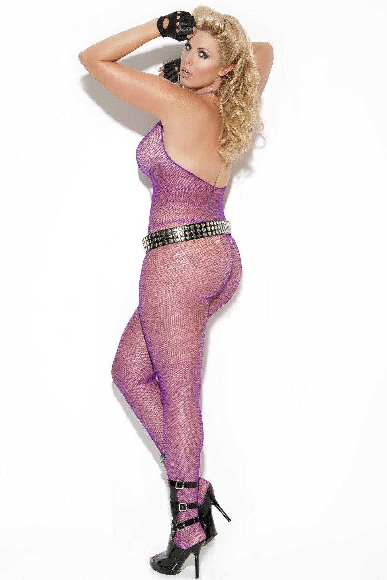 EM-8634 Purple bodystocking - Sexylingerieland  - 2