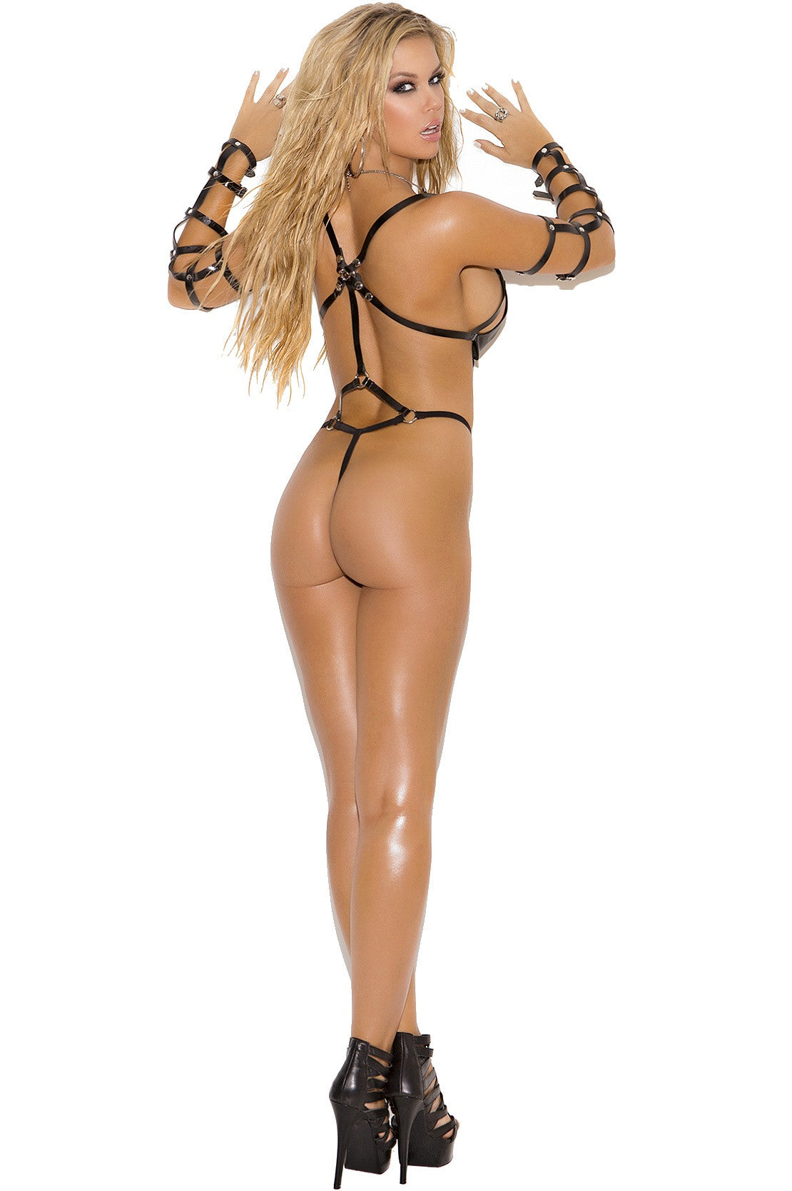 L2248 Leather & vinyl teddy - Sexylingerieland  - 2