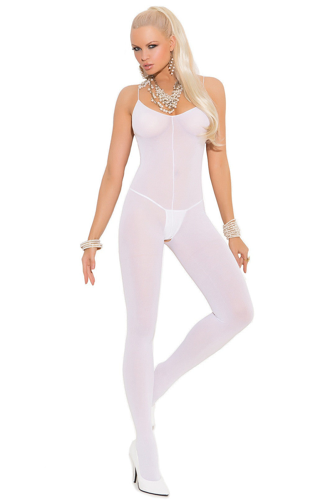 EM-1601 White bridal Bodystocking - Sexylingerieland
