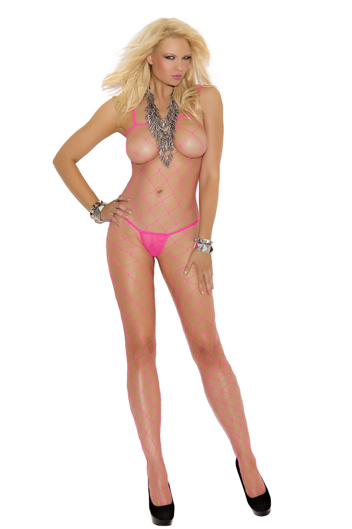 EM-1622 Lycra diamond net bodystocking - Sexylingerieland